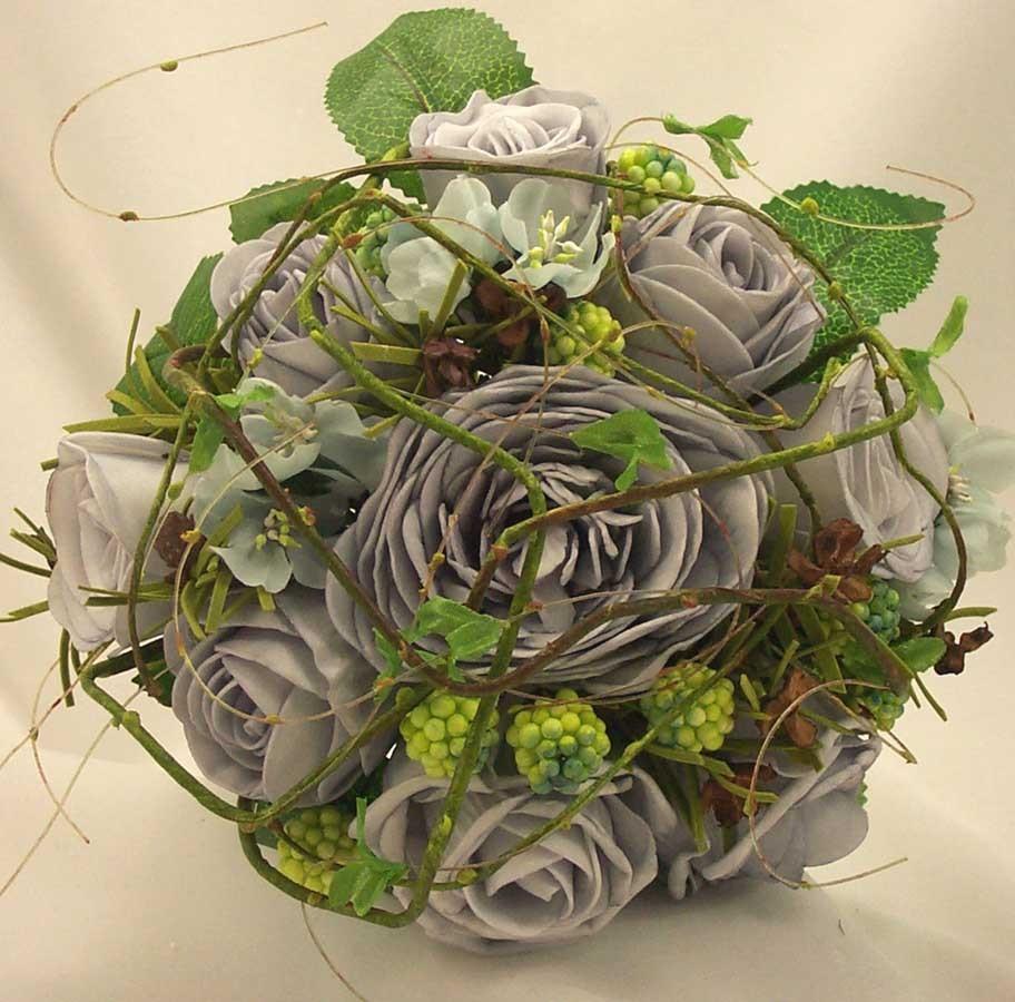 Aqua Mixed Rose & Twigs Posy Bouquet
