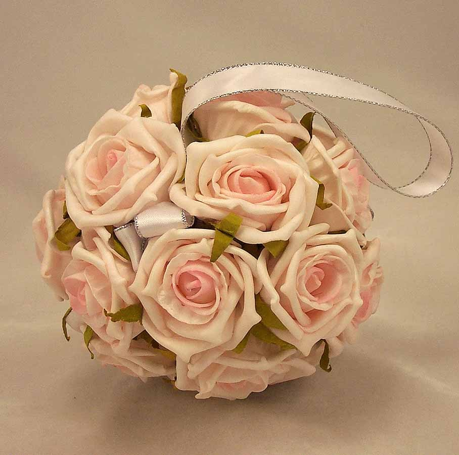Pomanders baby pink rose flowergirls pomander ball silk wedding flowergirls baby pink rose pomander ball mightylinksfo