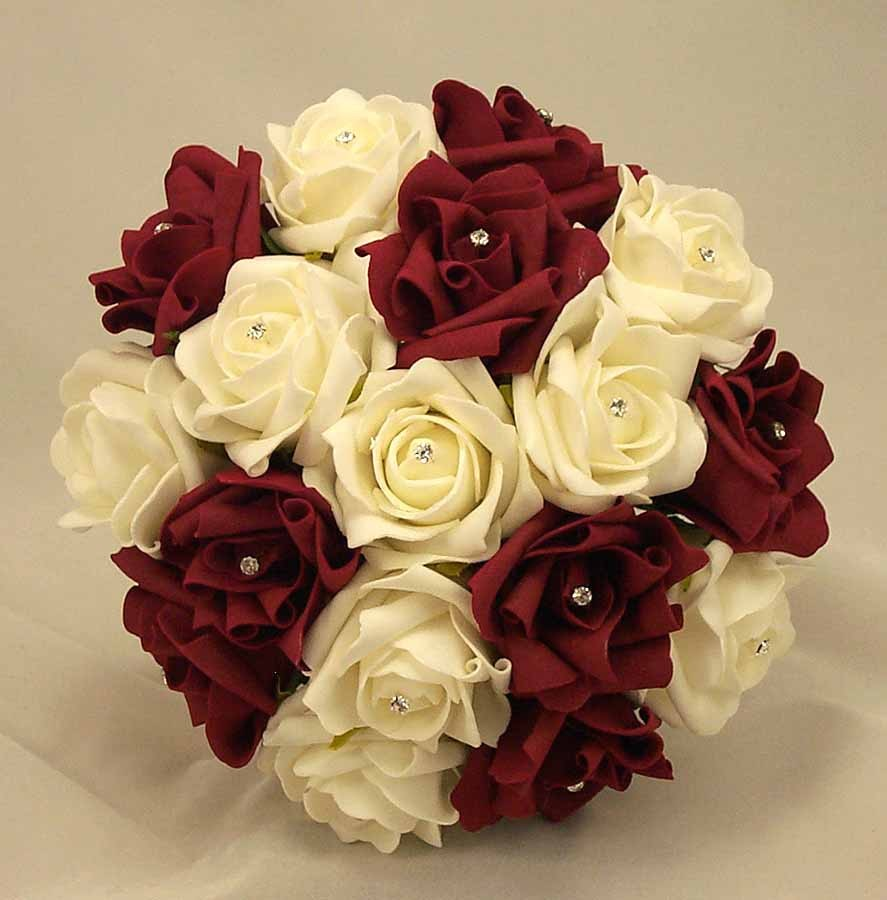 burgundy wedding flowers