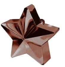 Chocolate Brown Star Balloon Weight