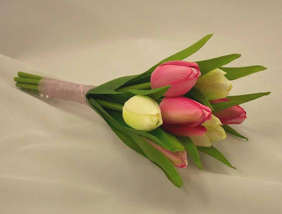 Cream & Pink Tulip Flowergirl's Posy Bouquet