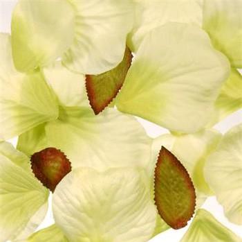 Green Silk Rose Petals
