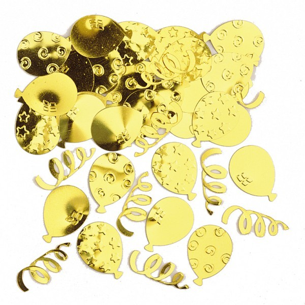 Gold Balloons Wedding Party Table Confetti