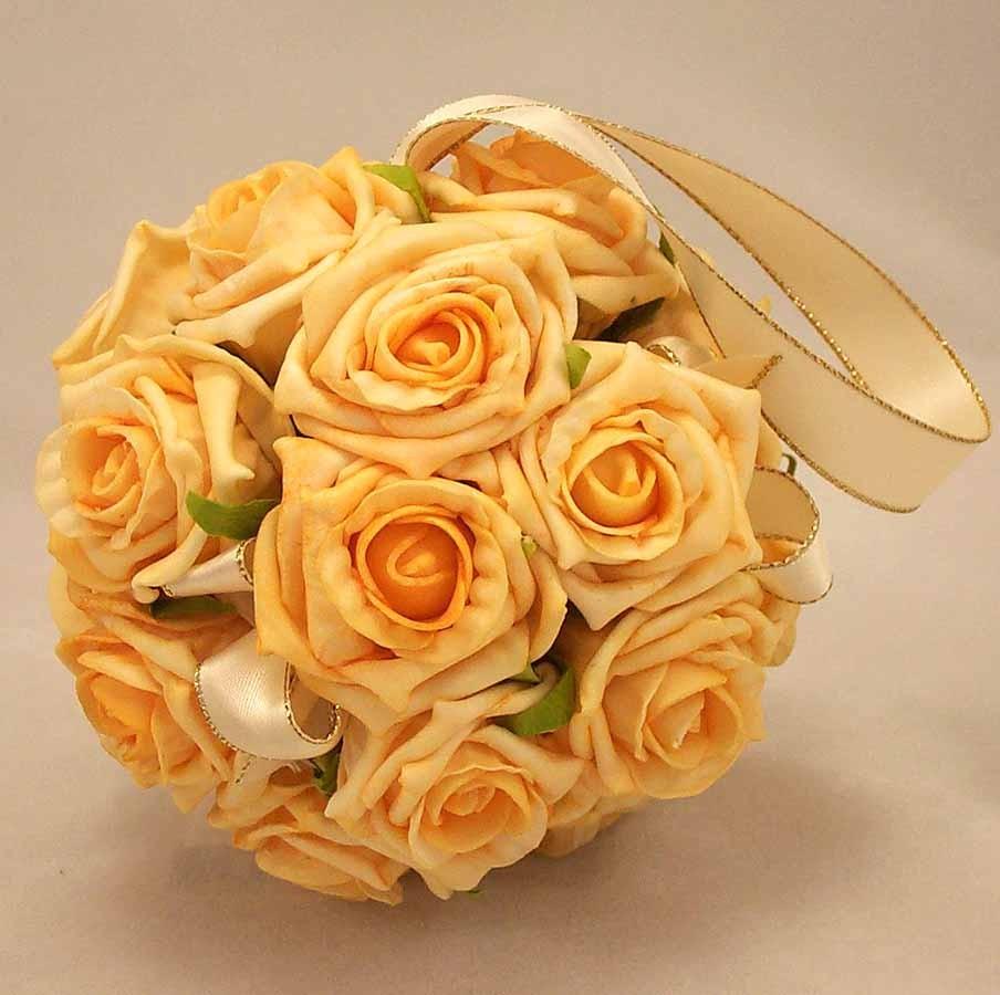 Flowergirl's Gold Rose Pomander Ball