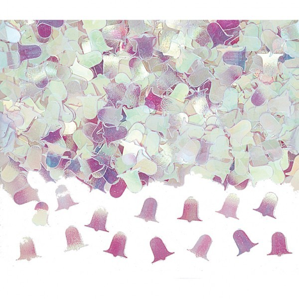 Irridescent Bells Wedding Table Confetti