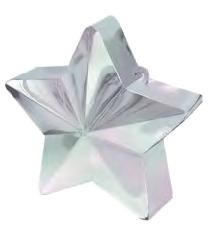 Irridescent Ivory Star Balloon Weight