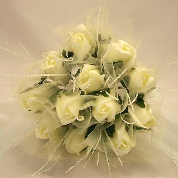 Ivory Rose Shimmer Bridesmaid Posy