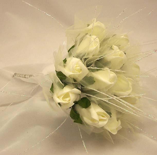 Cream Rose Shimmer Bridesmaid Posy