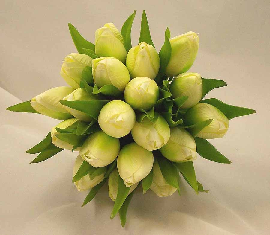 Bridal Bouquets Using Tulips : Ivory tulip bridesmaid s posy bouquet wedding bouquets