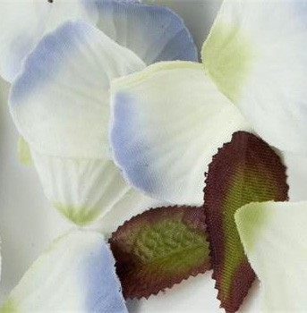 Lavender Blue Silk Rose Petals