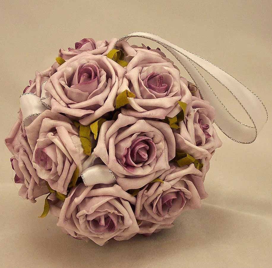 Flowergirl's Lilac Rose Pomander Ball