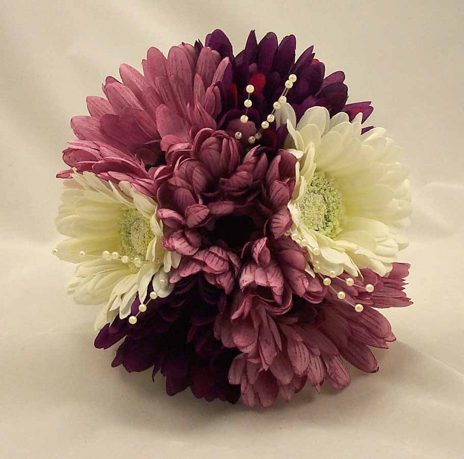 Lilac, Purple & Cream Gerbera Posy Bouquet