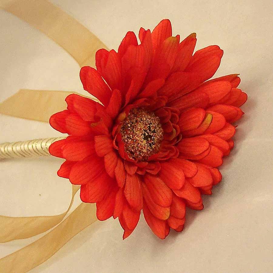 Flowergirl's Orange Gerbera Wand