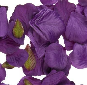 Purple Silk Rose Petals