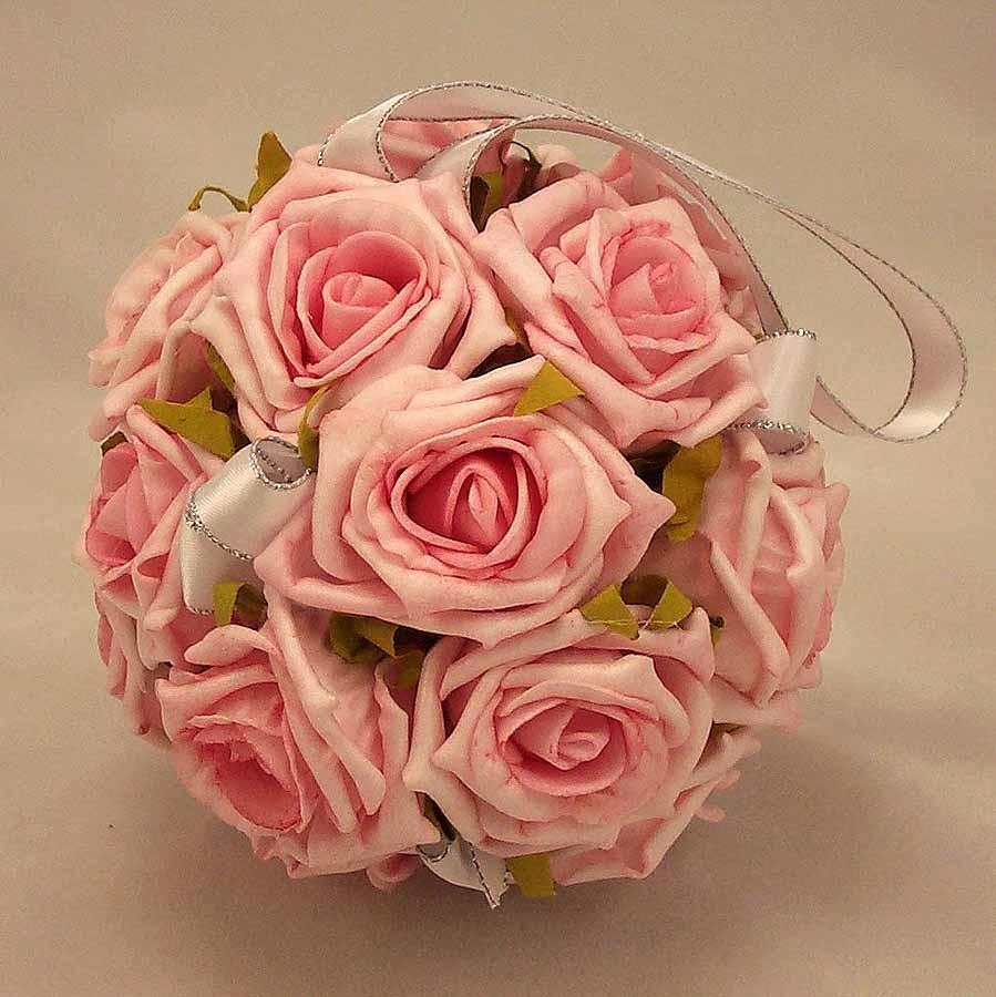 Flowergirl's Pink Rose Pomander Ball