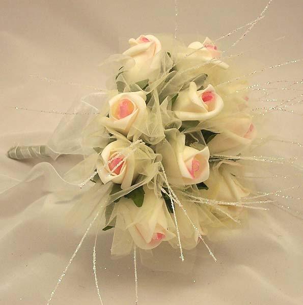 Pink Rose Shimmer Bridesmaid Posy