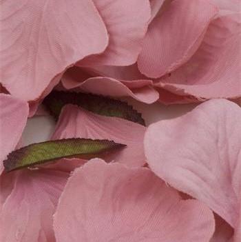 Pink Silk Rose Petals