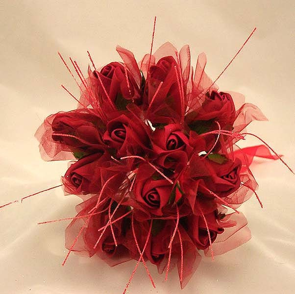 Red Rose Shimmer Bridesmaid Posy