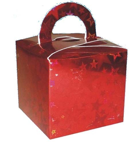 Red Stars Balloon Weight / Favour Boxes