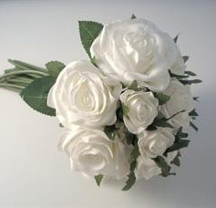 White Rose Posy Bouquet