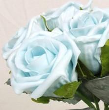 Aqua Turquoise Medium Rose Sample