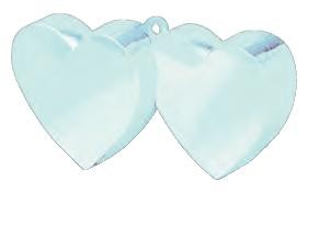 Baby Blue Double Heart Balloon Weight
