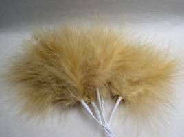 Beige Fluff Feathers
