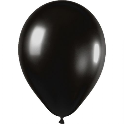 50 Black Latex Balloons