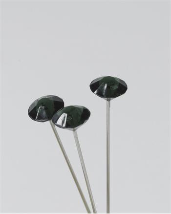 100 Black Diamante Pins 8mm