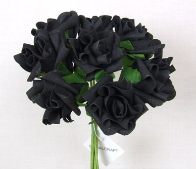 Black Medium Rose Sample