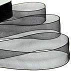 Black Organza Ribbon 70mm