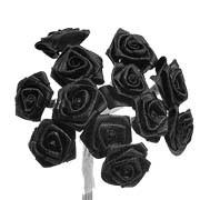 Black Satin Ribbon Roses