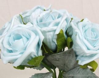 6 Luxury Blue Medium Roses