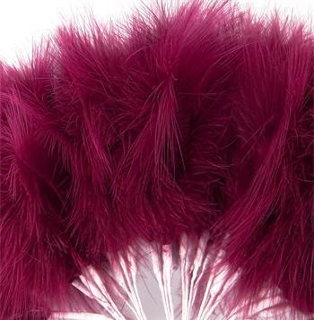 Burgundy Fluff Feathers