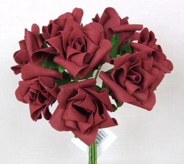 Burgundy Medium Rose Sample