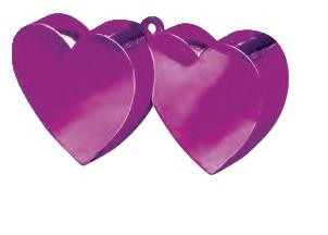 Cerise Pink Double Heart Balloon Weight