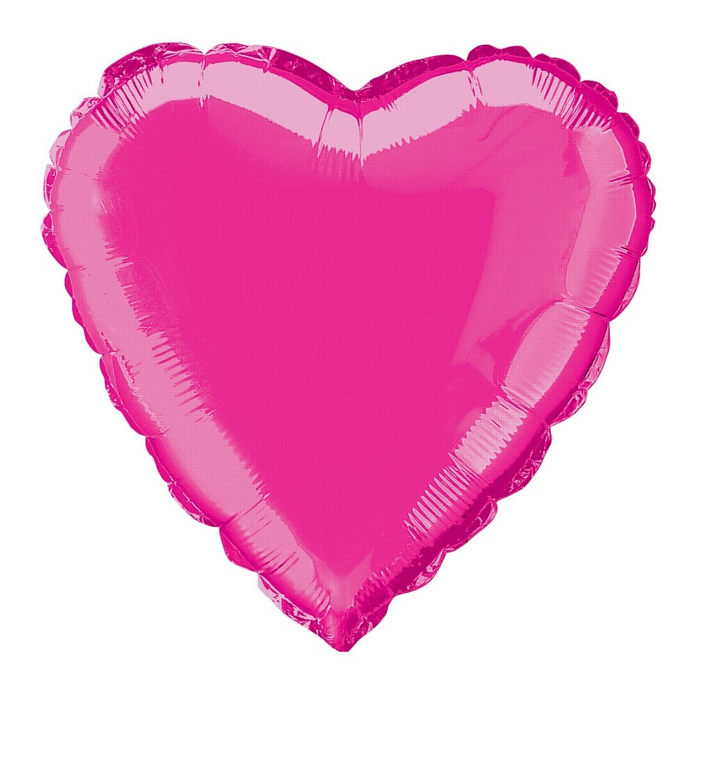 18 Cerise Pink Heart Foil Balloon Helium Foil Balloons Party Goods And Accessories