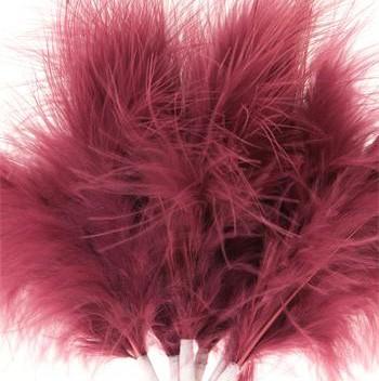 Cerise Pink Fluff Feathers
