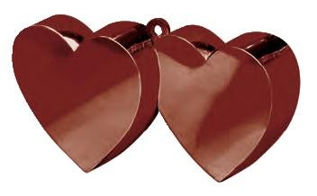 Chocolate Brown Double Heart Balloon Weight