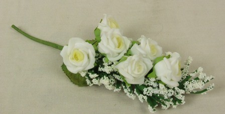 Cream Rose & Heather Corsage