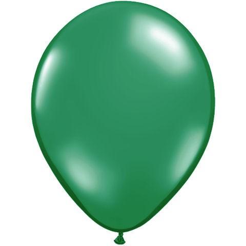 50 Dark Green Latex Balloons
