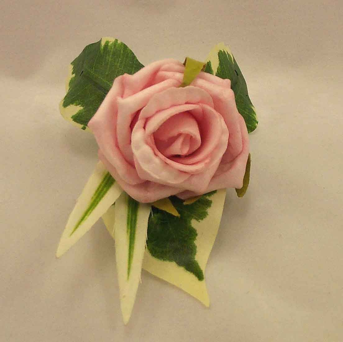 Single Pink Rose Buttonhole