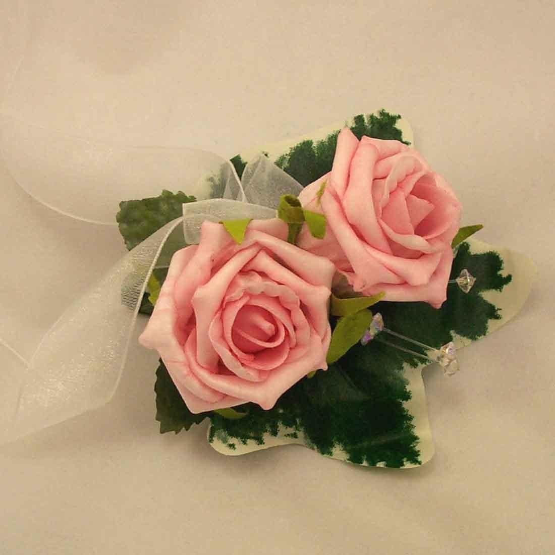 wrist corsages - pink rose lady u0026 39 s wrist corsage