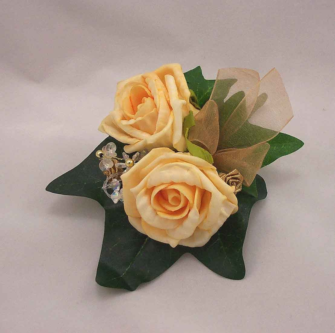 Double Gold Rose Buttonhole