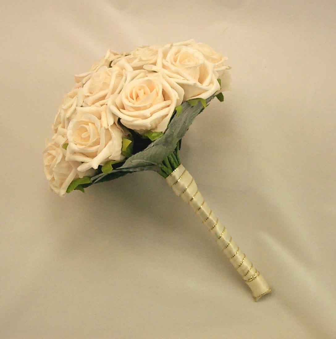 Cream Rose Bridesmaid's Bouquet
