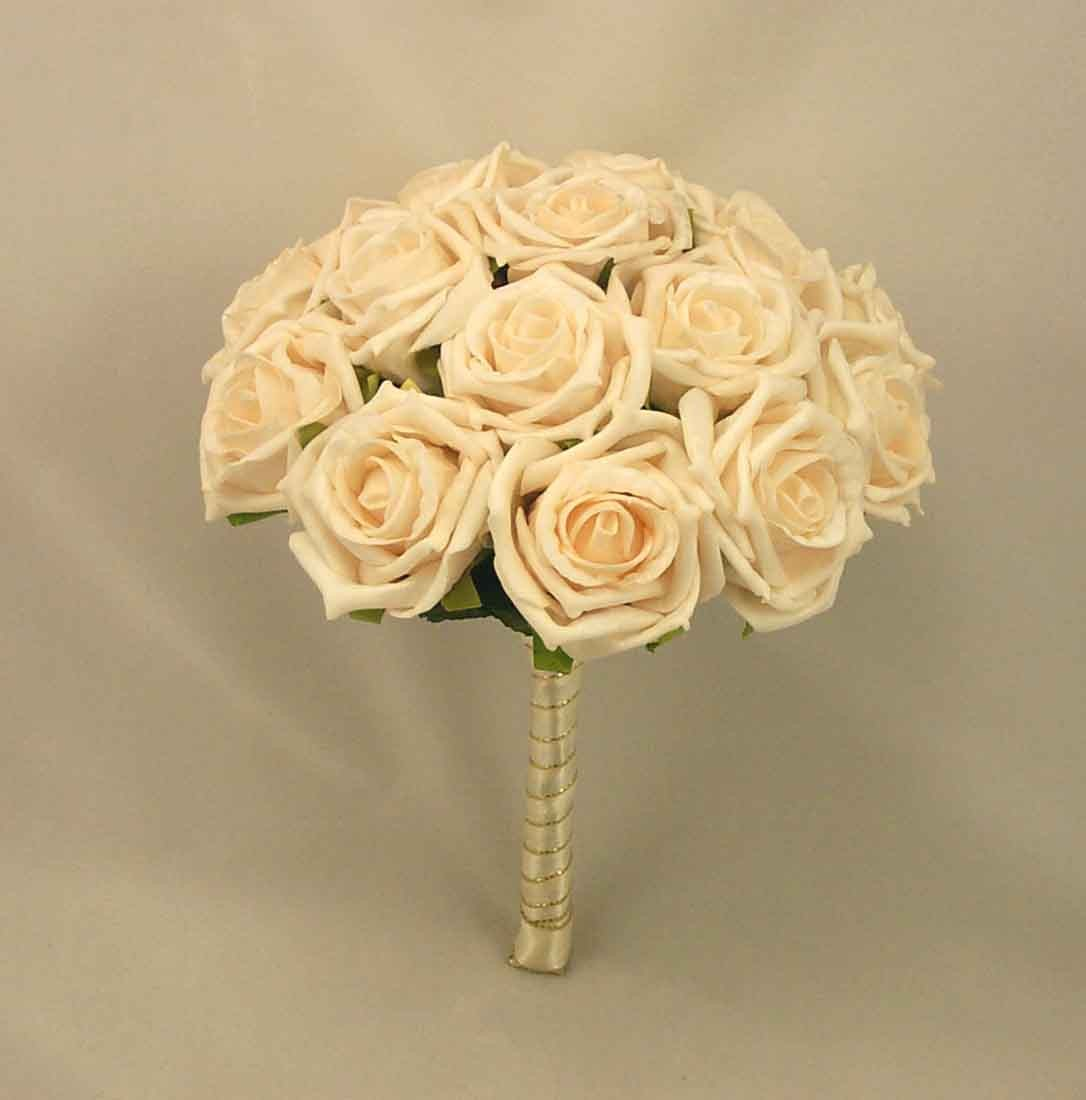 Cream Open Rose Table Posy