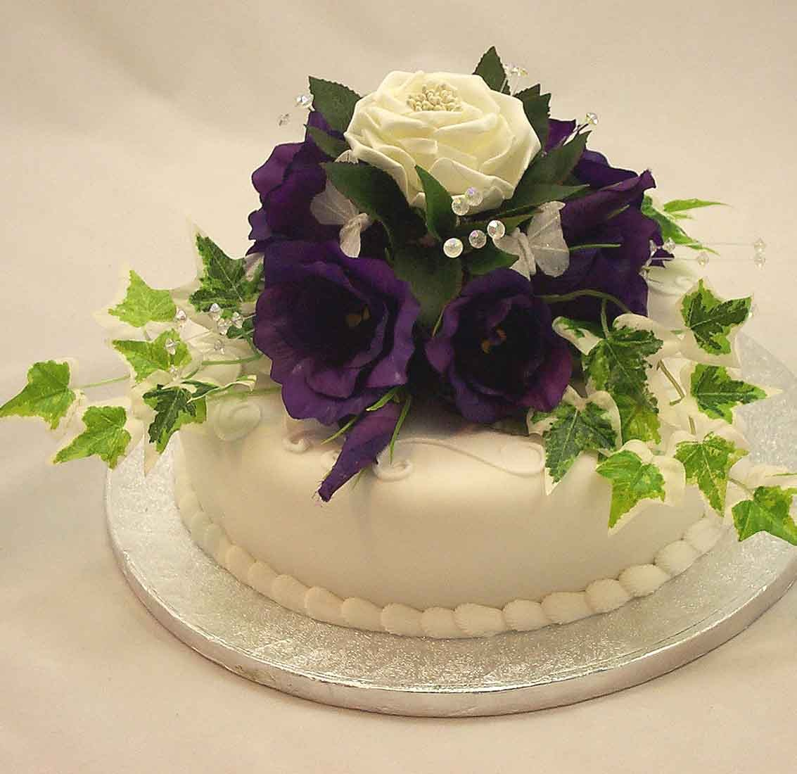 Silk Flowers For Cake Decorating