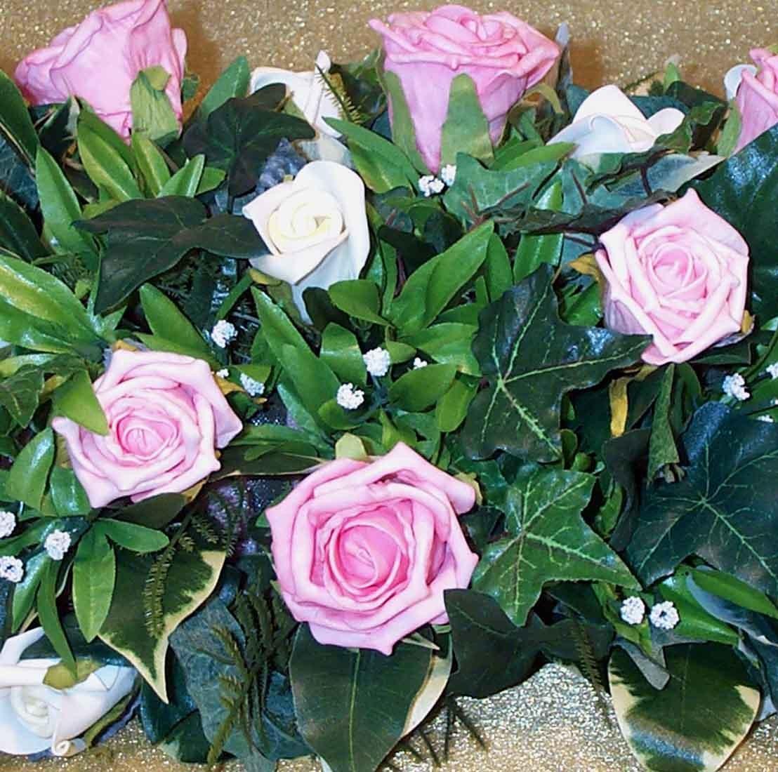 Ivory & Pink Rose Table Arrangement