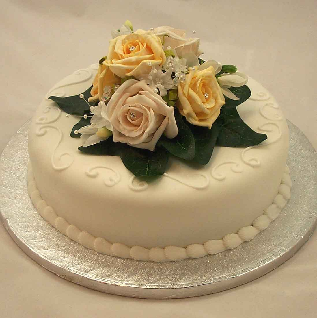 Yellow Flower Wedding Cake Topper - Flowers Healthy