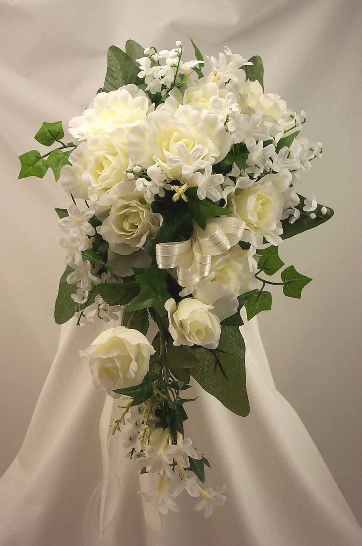Ivory Rose Shower Bouquet